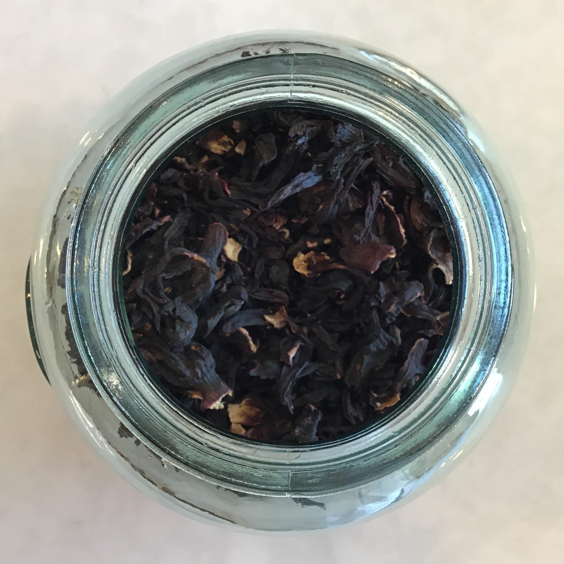 Hibiscus flowers add a delicious cranberry, slightly sweet and pretty pink color to iced or hot drinks
