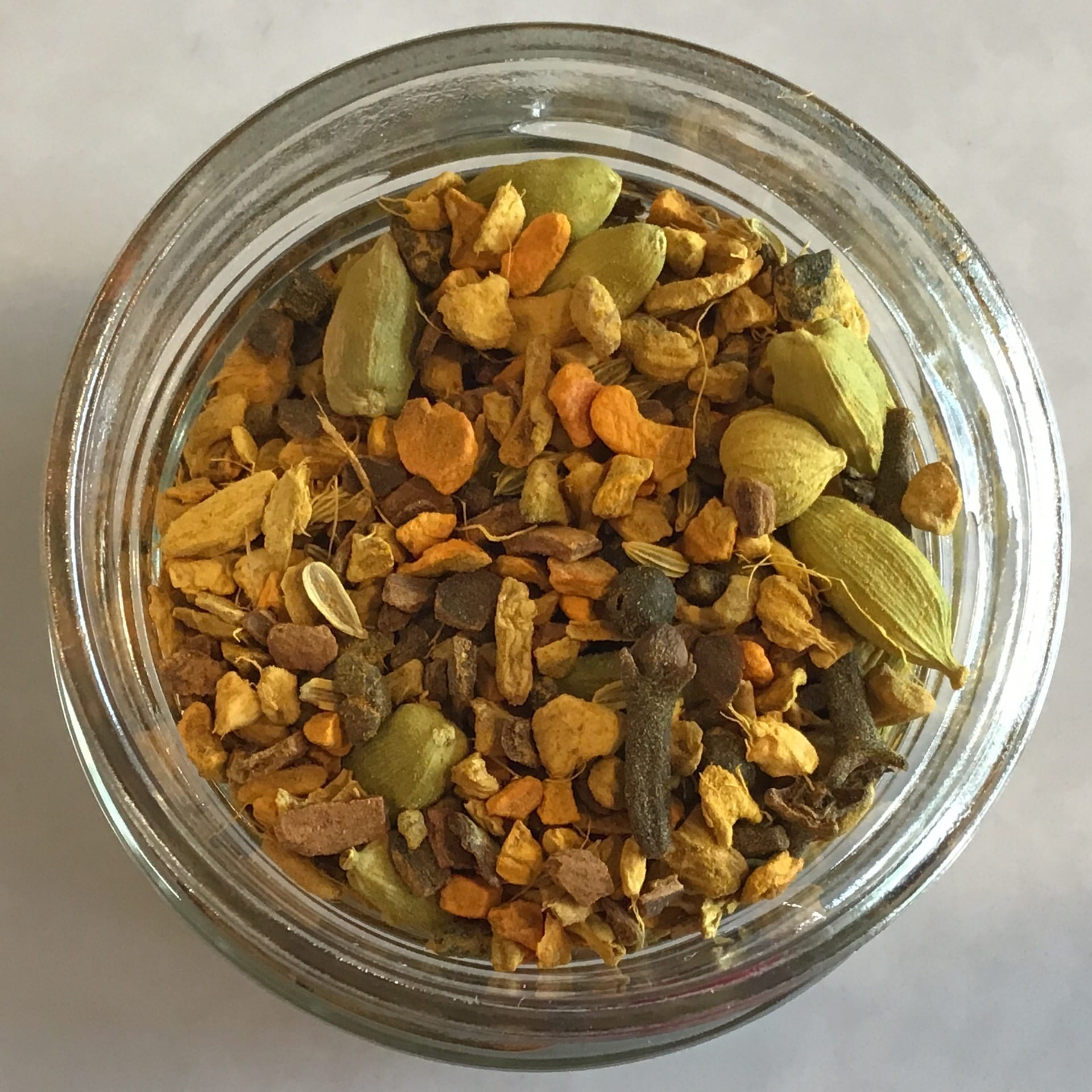 Organic Turmeric Chai sold by the ounce plastic-free