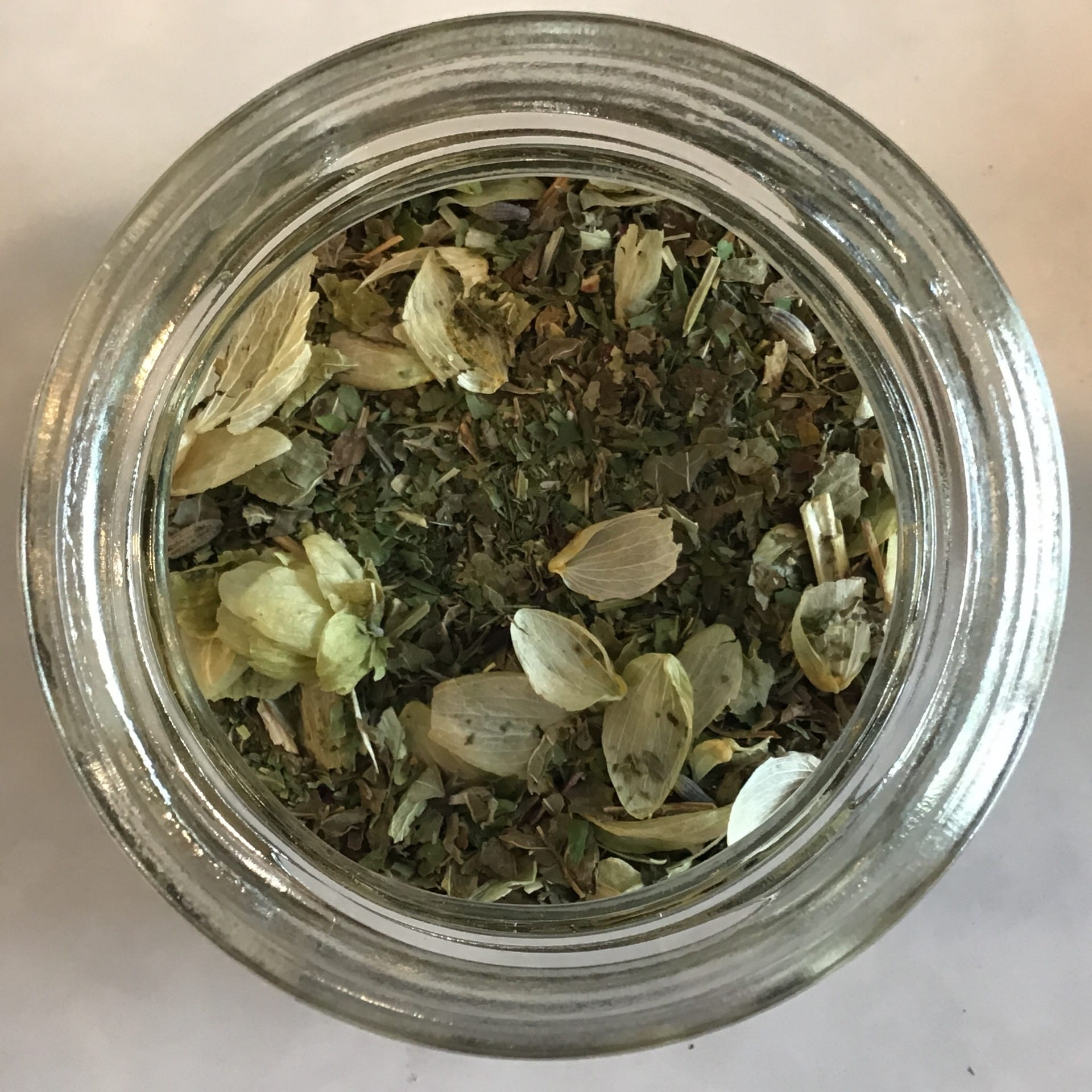 Night tea will help you fall asleep with a touch of valerian root and hops